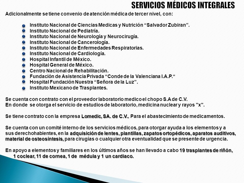 SERVICIOS MÉDICOS INTEGRALES