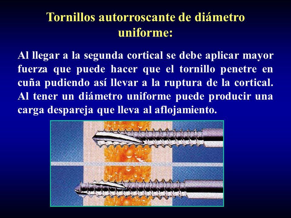 Tornillos autorroscante de diámetro uniforme: