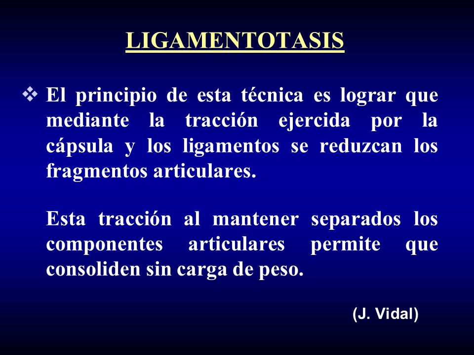LIGAMENTOTASIS