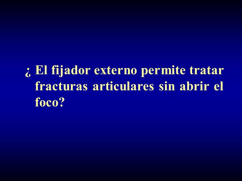 ¿ El fijador externo permite tratar fracturas articulares sin abrir el foco