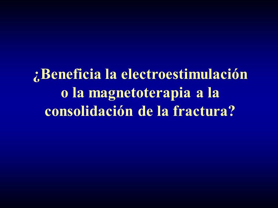 ¿Beneficia la electroestimulación o la magnetoterapia a la consolidación de la fractura