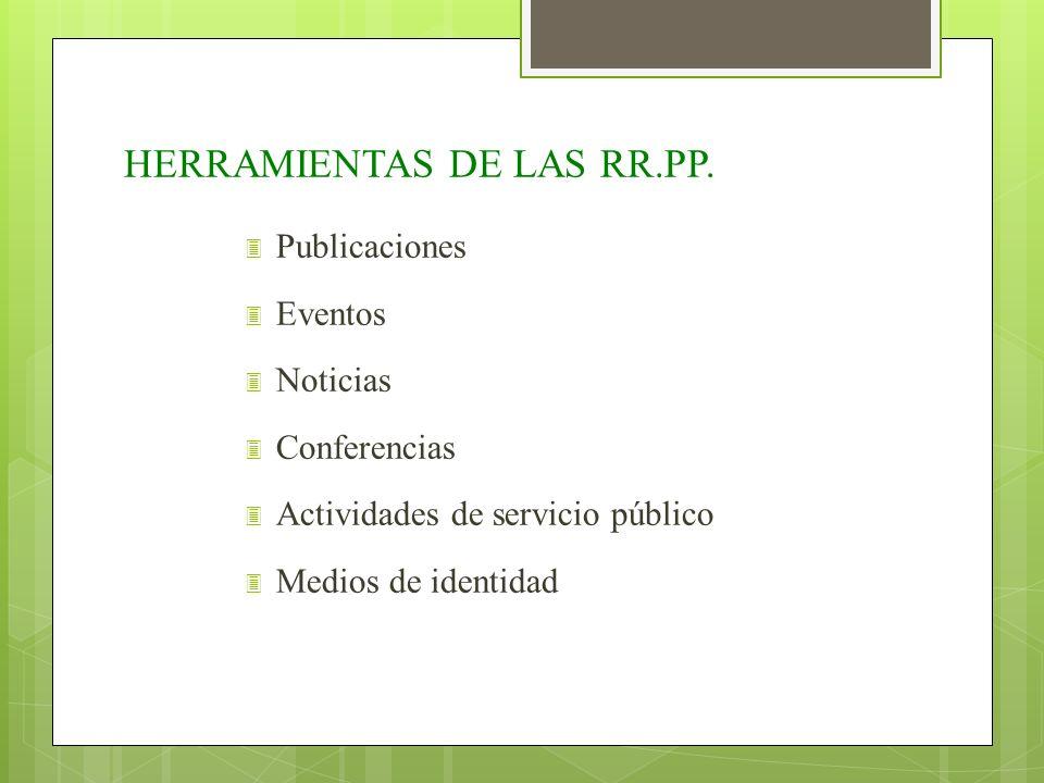 HERRAMIENTAS DE LAS RR.PP.