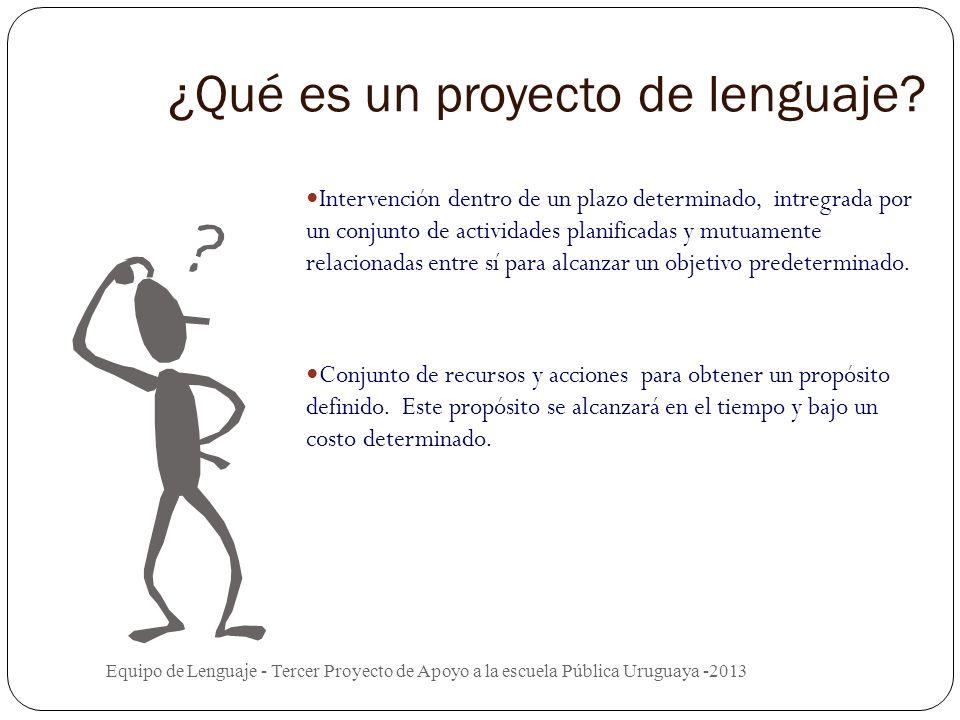 ¿Qué es un proyecto de lenguaje