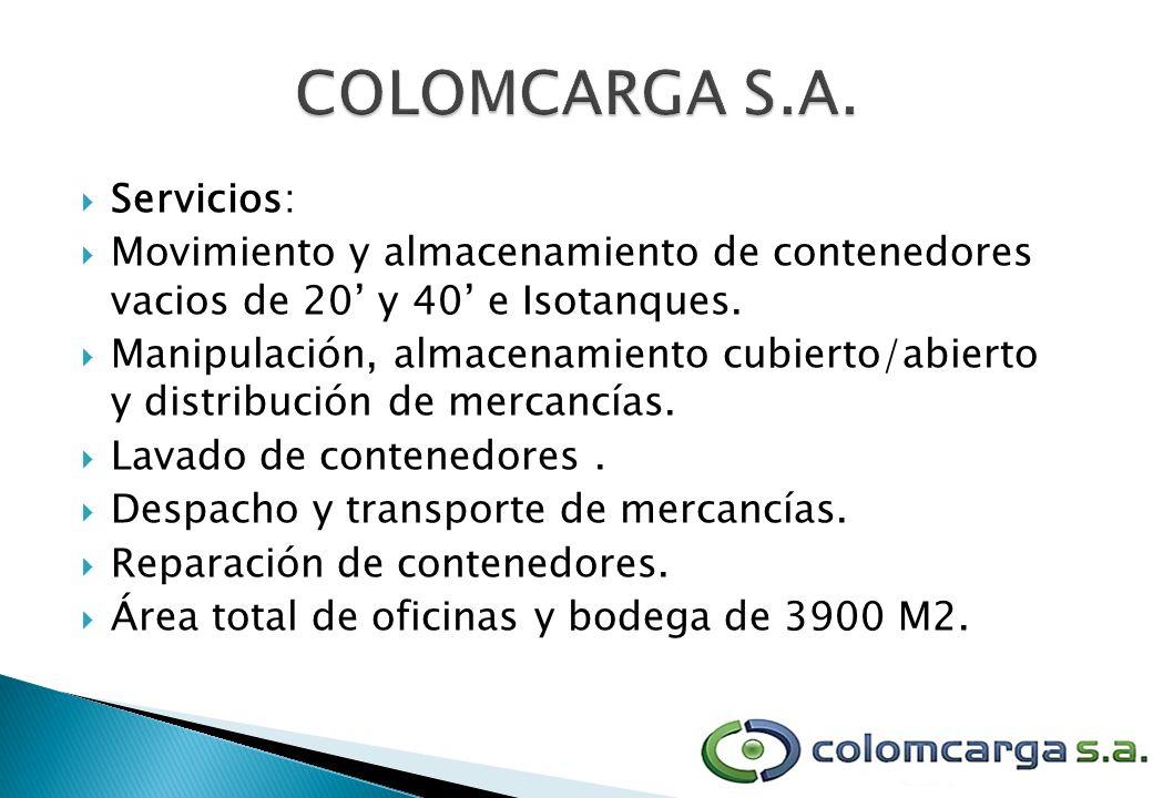 COLOMCARGA S.A. Servicios: