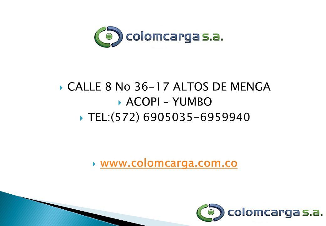 CALLE 8 No 36-17 ALTOS DE MENGA
