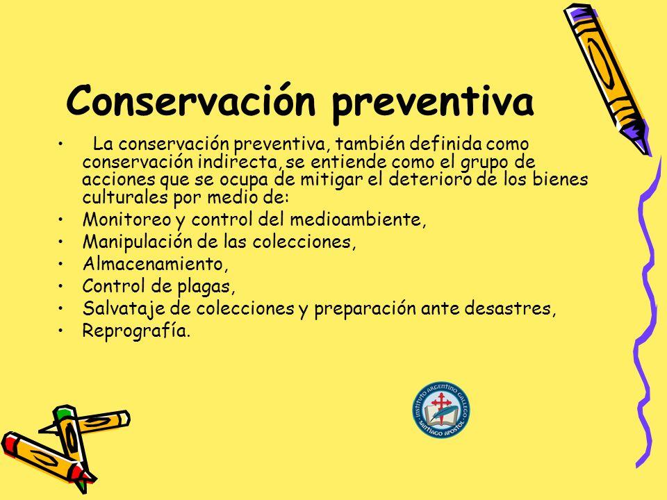 Conservación preventiva