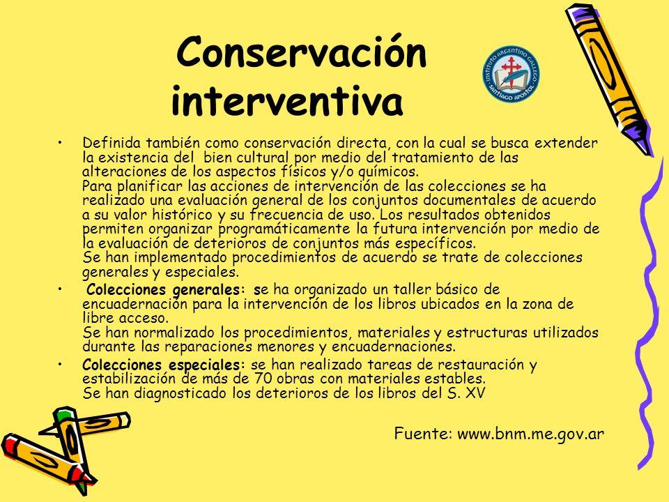 Conservación interventiva