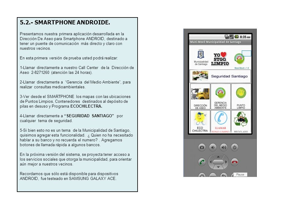 5.2.- SMARTPHONE ANDROIDE.