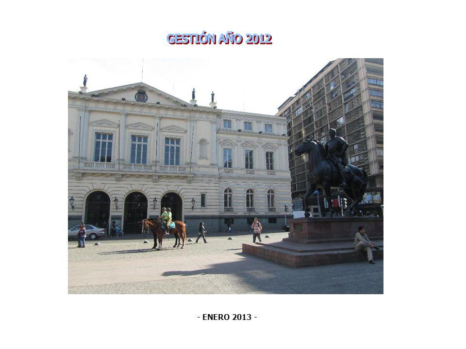 GESTIÓN AÑO 2012 - ENERO 2013 -