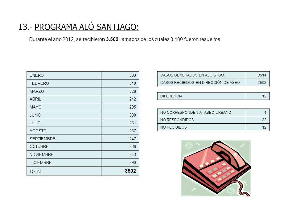 13.- PROGRAMA ALÓ SANTIAGO:
