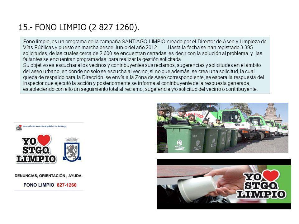 15.- FONO LIMPIO (2 827 1260).