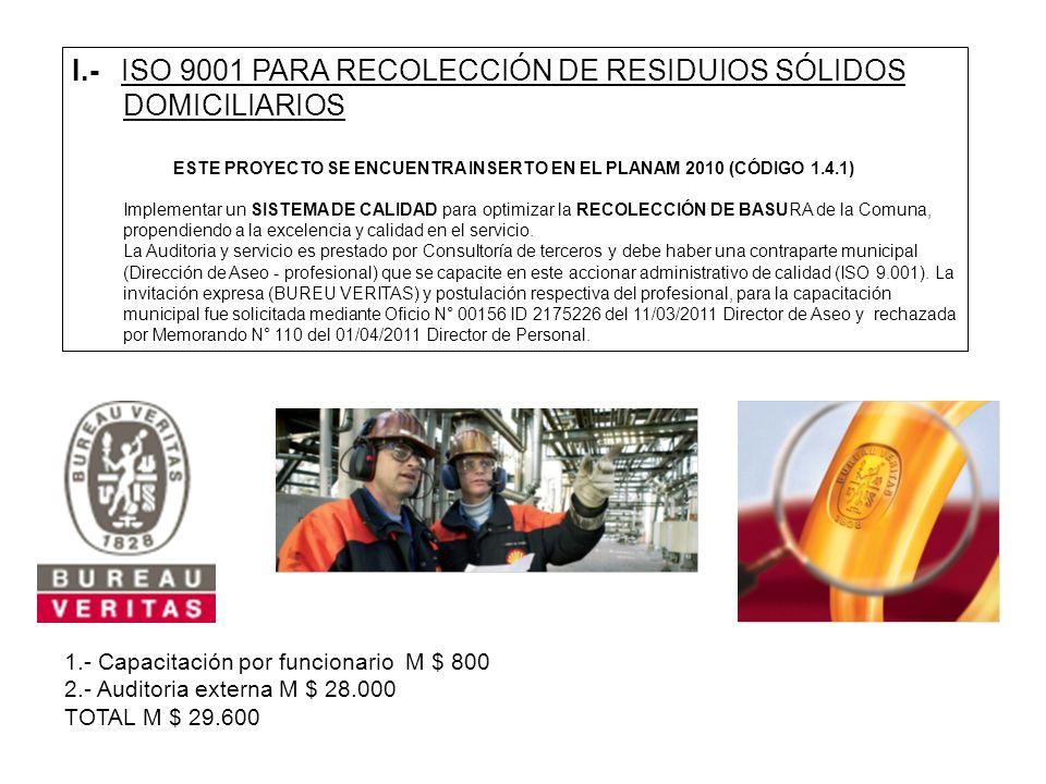 ESTE PROYECTO SE ENCUENTRA INSERTO EN EL PLANAM 2010 (CÓDIGO 1.4.1)