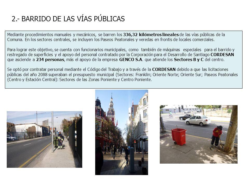 2.- BARRIDO DE LAS VÍAS PÚBLICAS