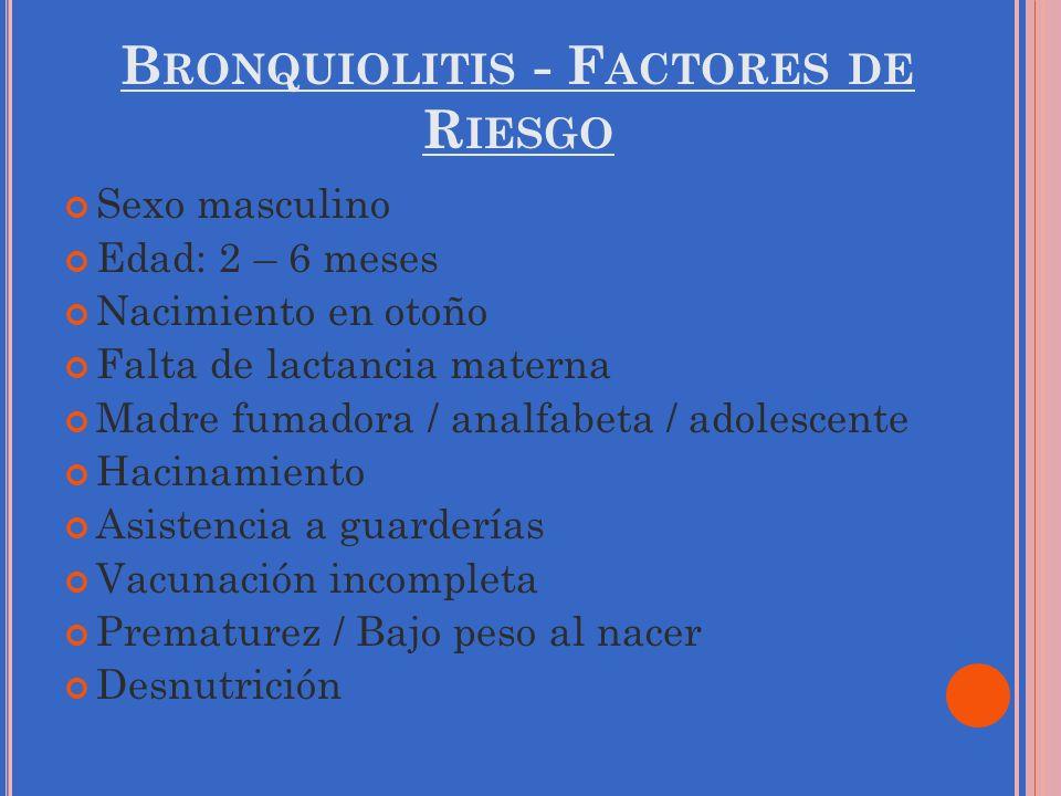 Bronquiolitis - Factores de Riesgo