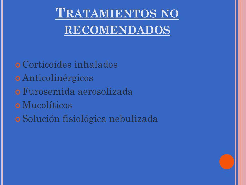 Tratamientos no recomendados