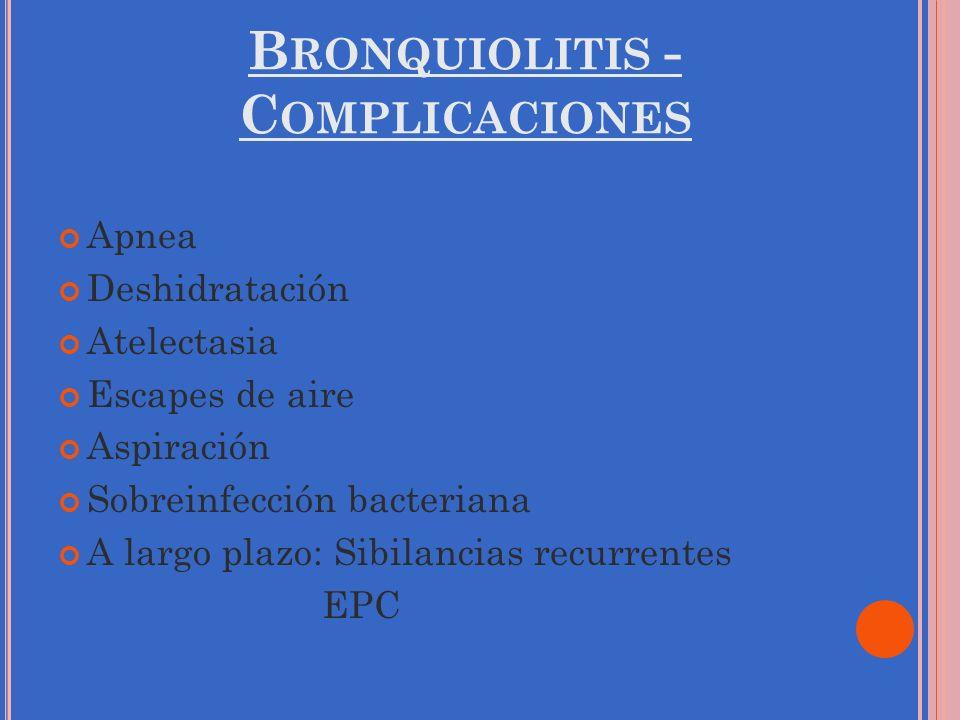 Bronquiolitis - Complicaciones