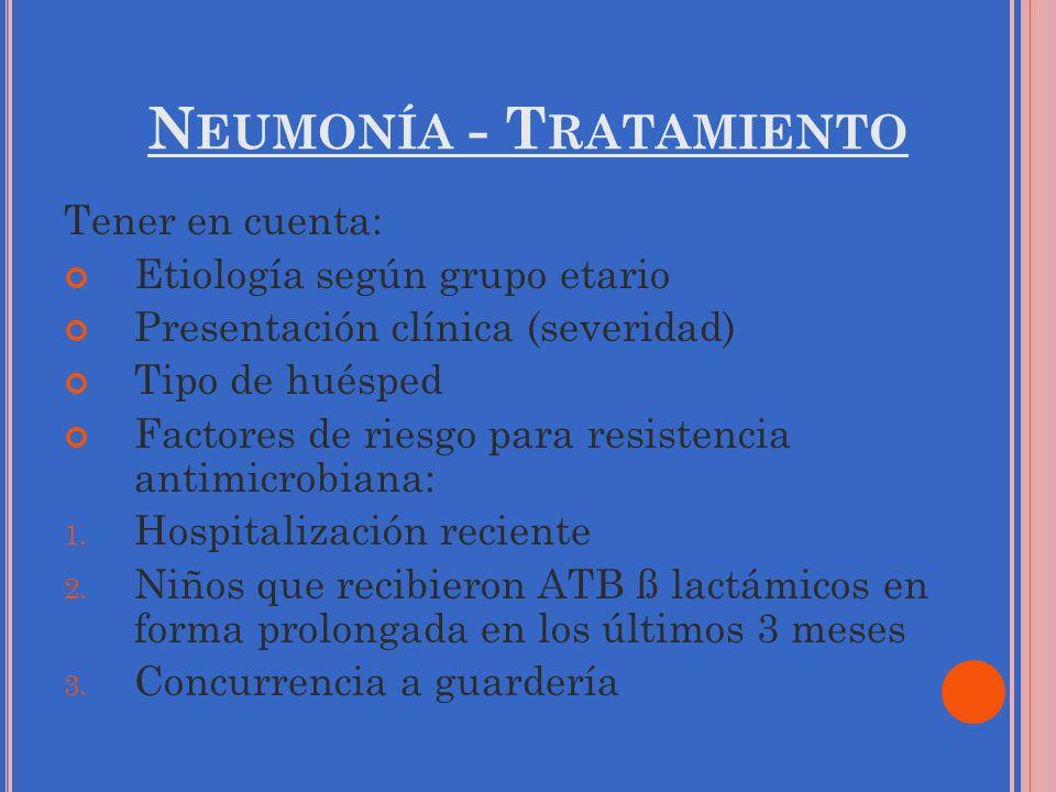 Neumonía - Tratamiento
