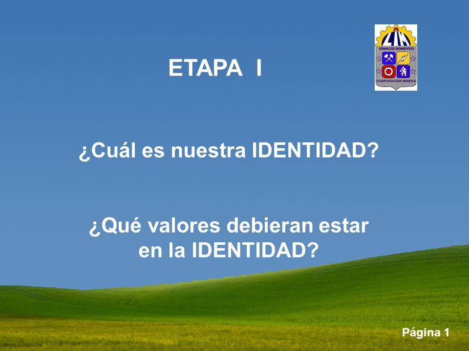 ETAPA I ¿Cuál es nuestra IDENTIDAD