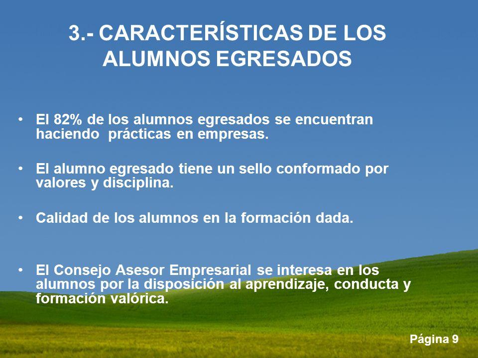 3.- CARACTERÍSTICAS DE LOS ALUMNOS EGRESADOS