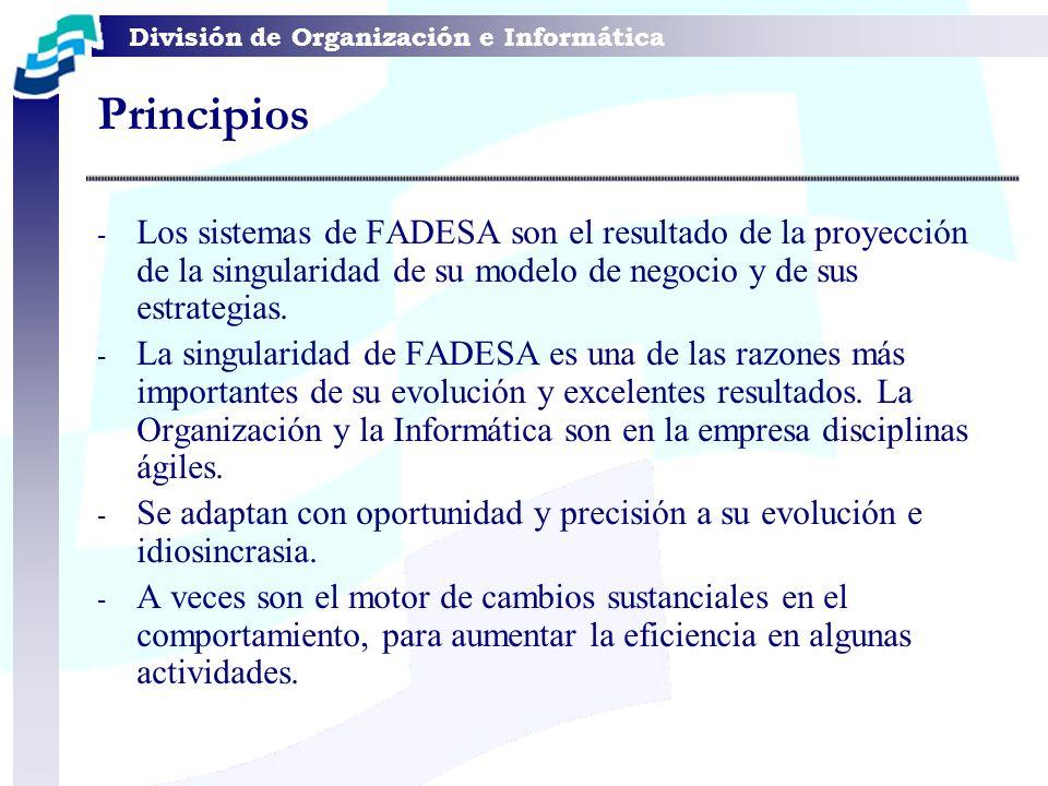 Principios Los sistemas de FADESA son el resultado de la proyección de la singularidad de su modelo de negocio y de sus estrategias.