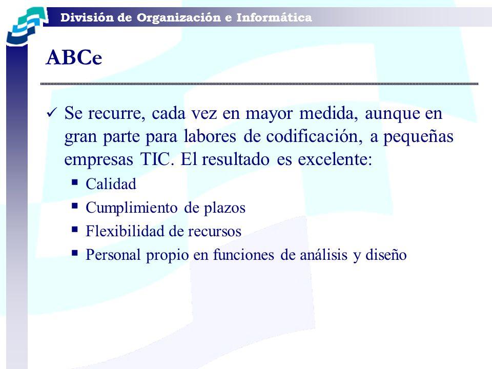 ABCe Se recurre, cada vez en mayor medida, aunque en gran parte para labores de codificación, a pequeñas empresas TIC. El resultado es excelente: