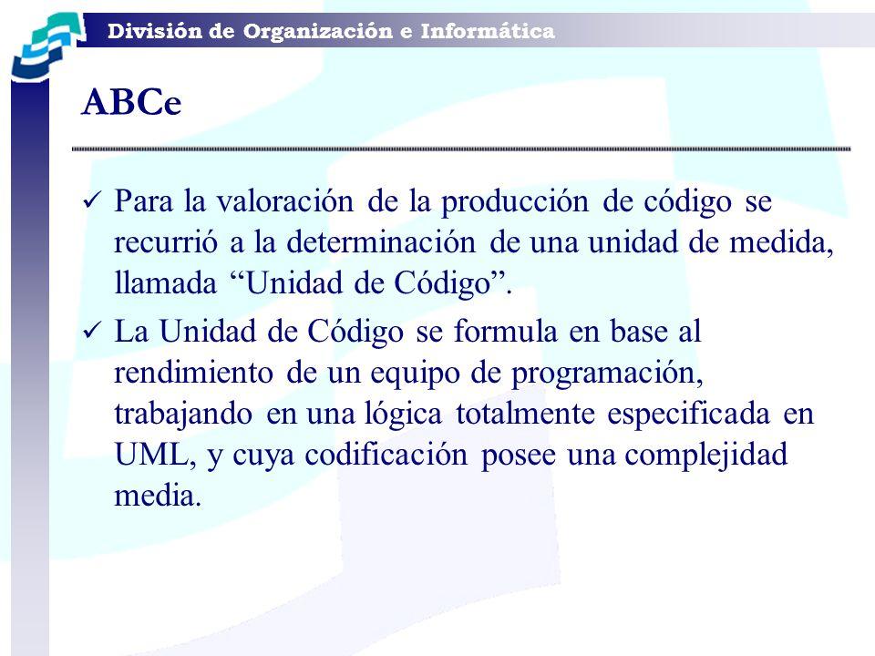 ABCe Para la valoración de la producción de código se recurrió a la determinación de una unidad de medida, llamada Unidad de Código .