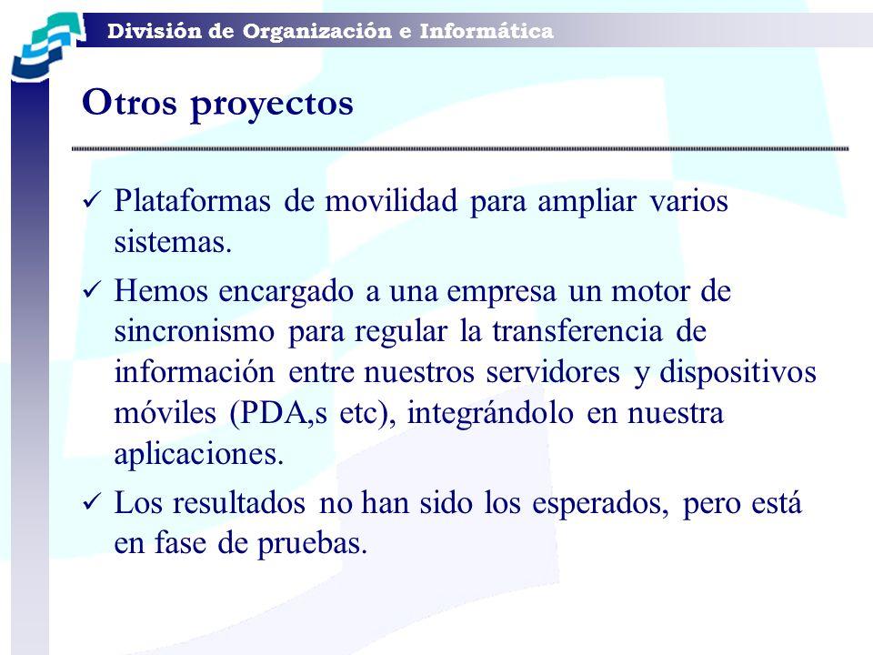 Otros proyectos Plataformas de movilidad para ampliar varios sistemas.