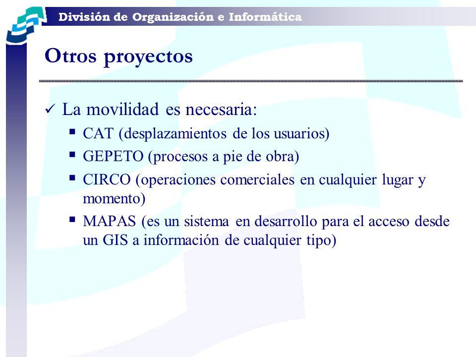 Otros proyectos La movilidad es necesaria:
