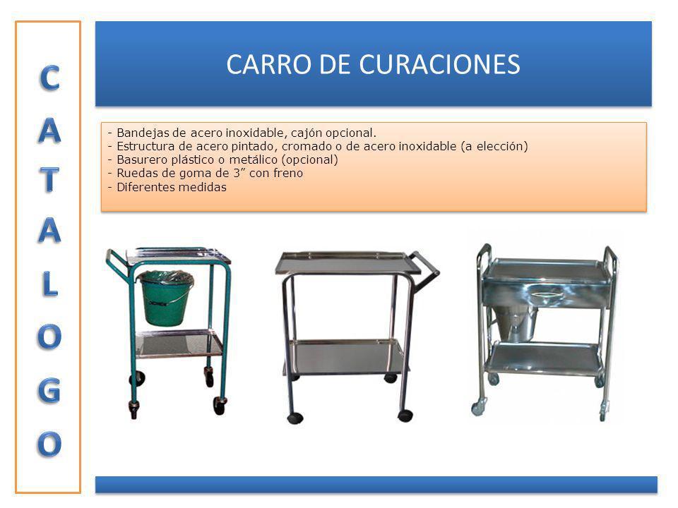 CATALOGO CARRO DE CURACIONES