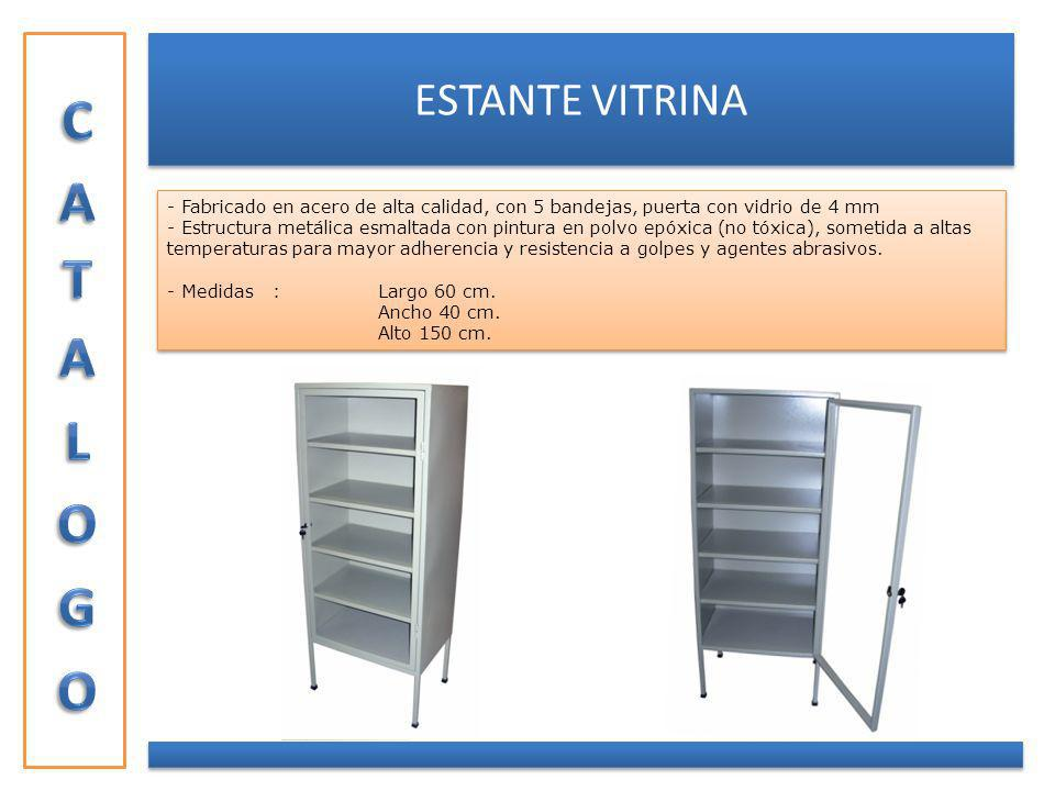 CATALOGO ESTANTE VITRINA