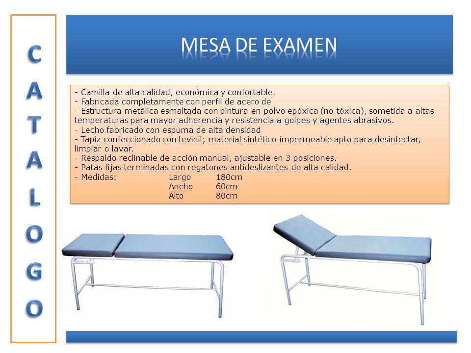CATALOGO MESA DE EXAMEN
