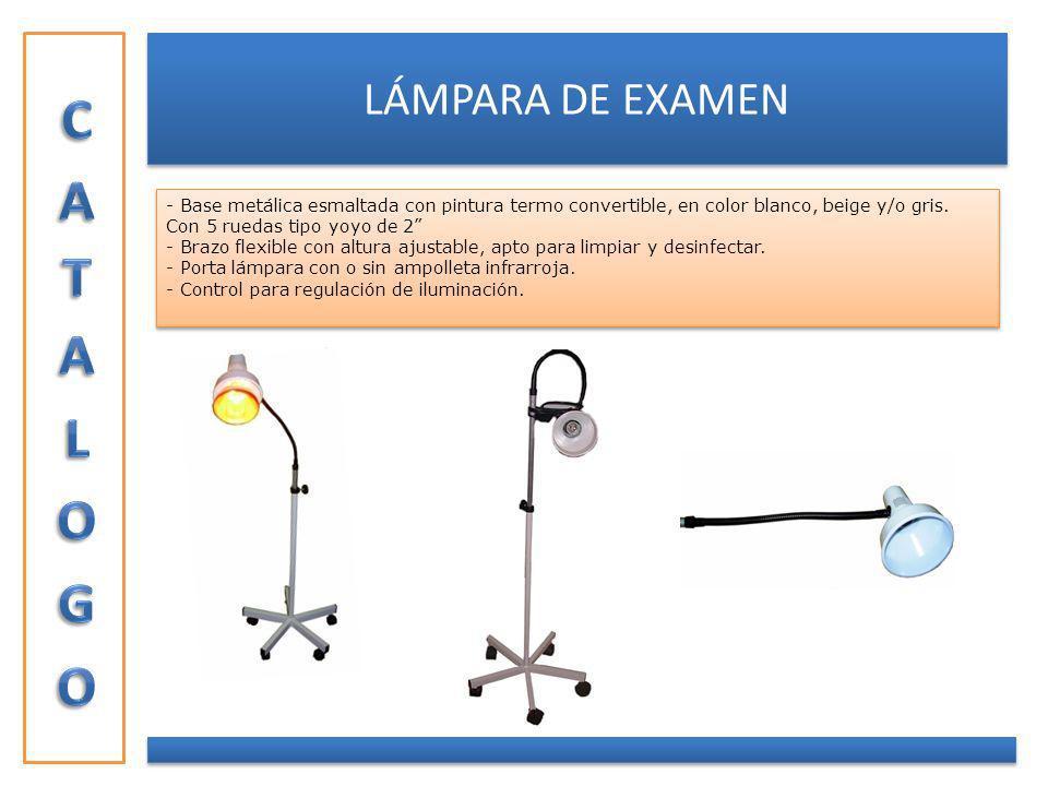 CATALOGO LÁMPARA DE EXAMEN