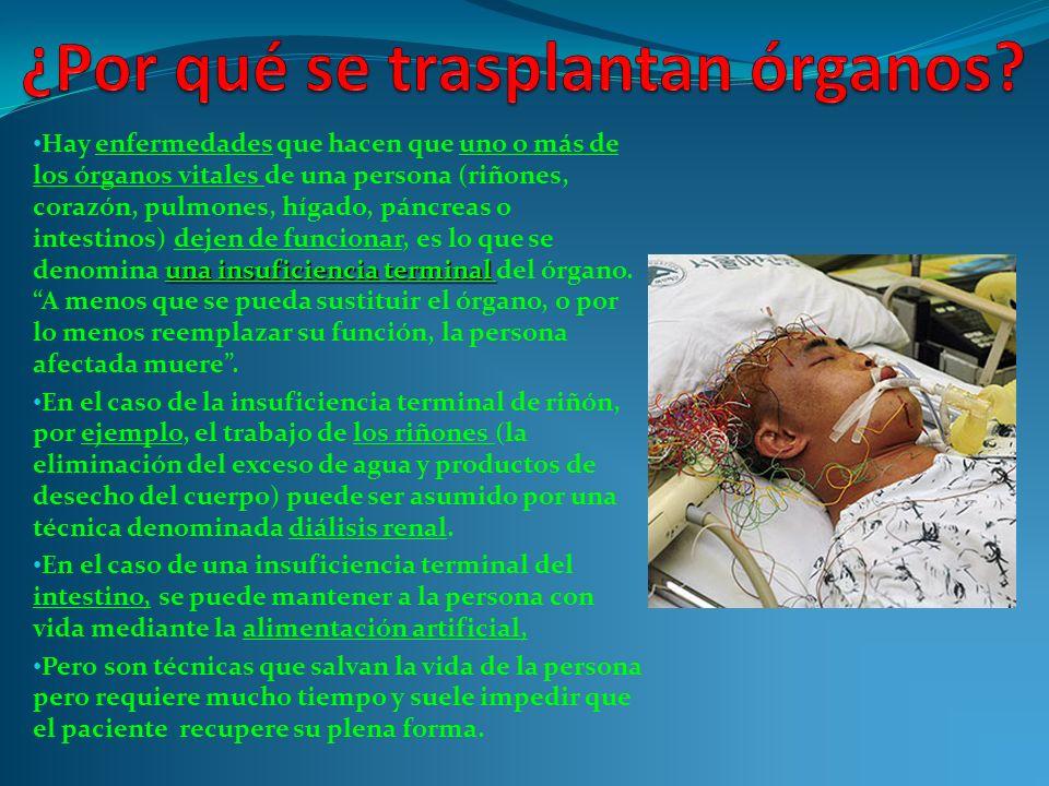 ¿Por qué se trasplantan órganos