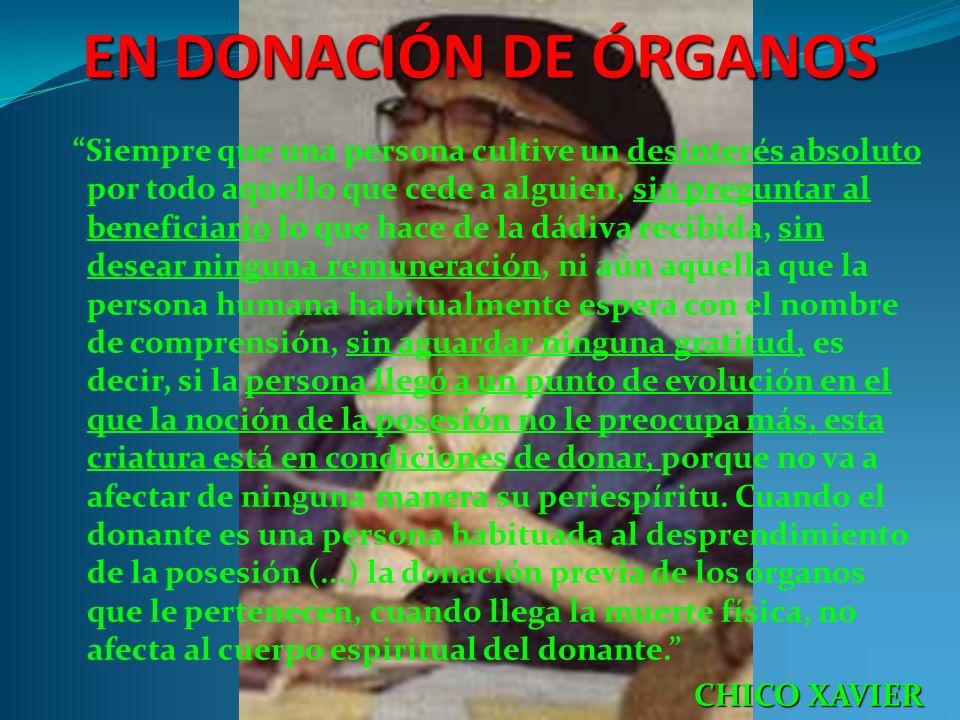 EN DONACIÓN DE ÓRGANOS