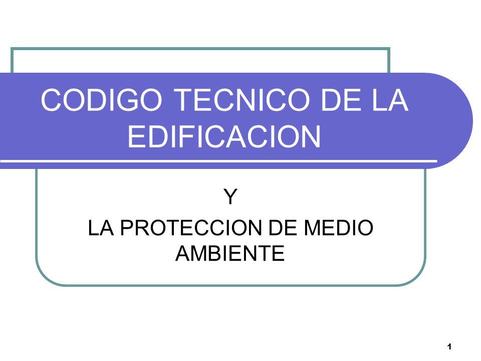 CODIGO TECNICO DE LA EDIFICACION
