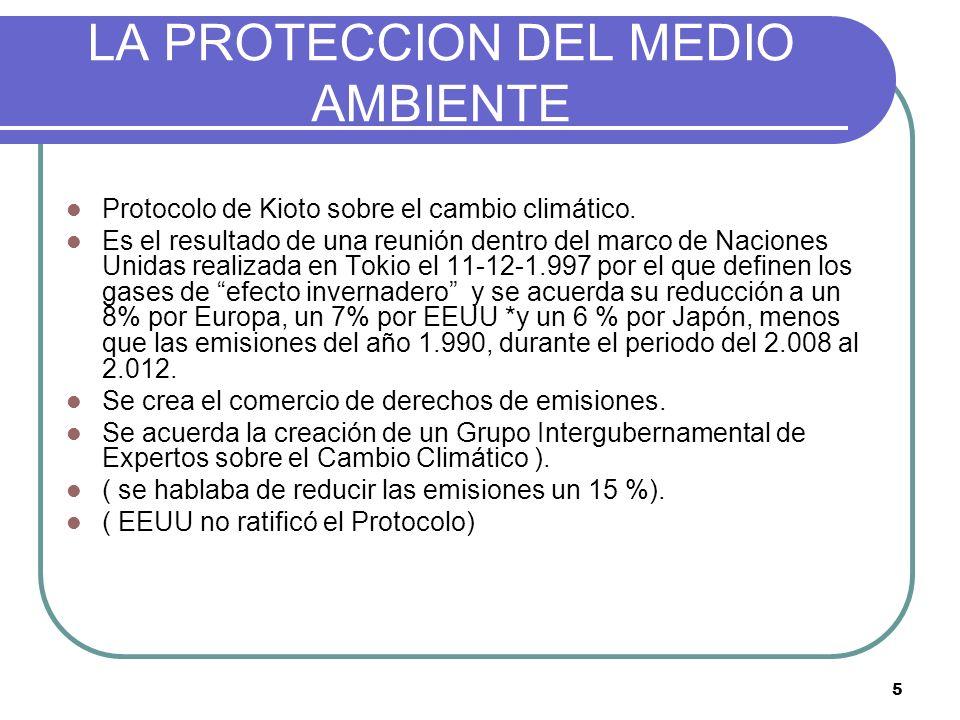 LA PROTECCION DEL MEDIO AMBIENTE
