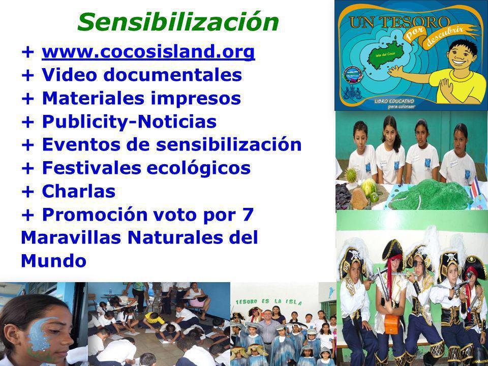 Sensibilización Sensibilización + www.cocosisland.org