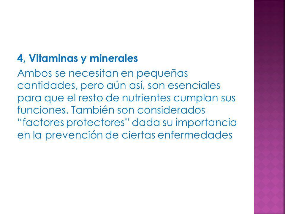 4, Vitaminas y minerales