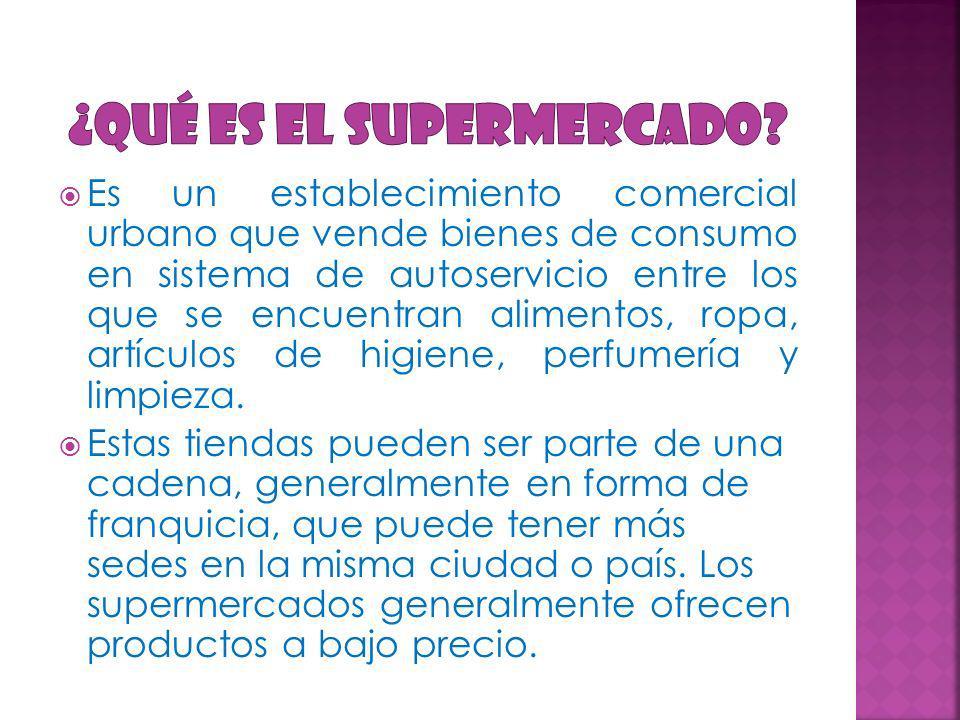 ¿Qué es el supermercado