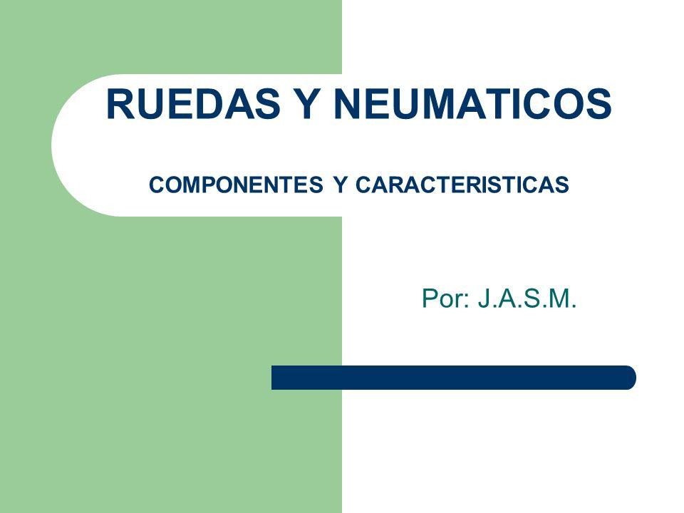 RUEDAS Y NEUMATICOS COMPONENTES Y CARACTERISTICAS