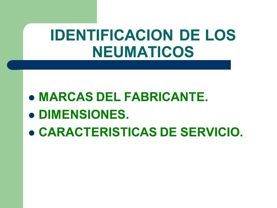 IDENTIFICACION DE LOS NEUMATICOS
