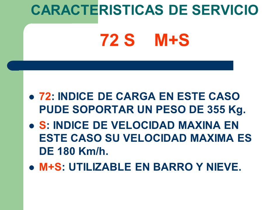 CARACTERISTICAS DE SERVICIO 72 S M+S