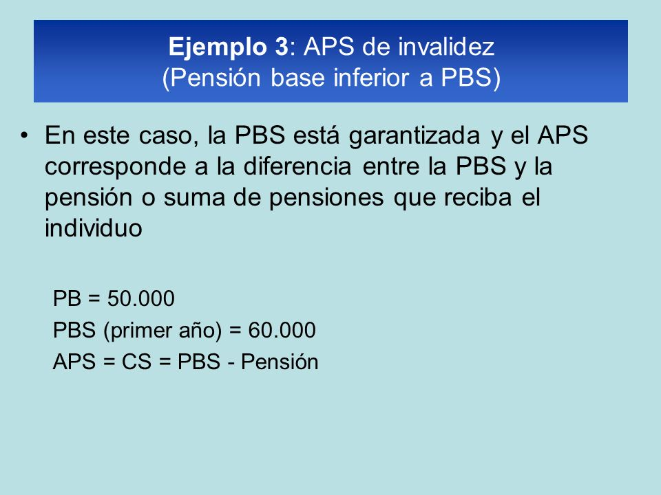 Ejemplo 3: APS de invalidez (Pensión base inferior a PBS)