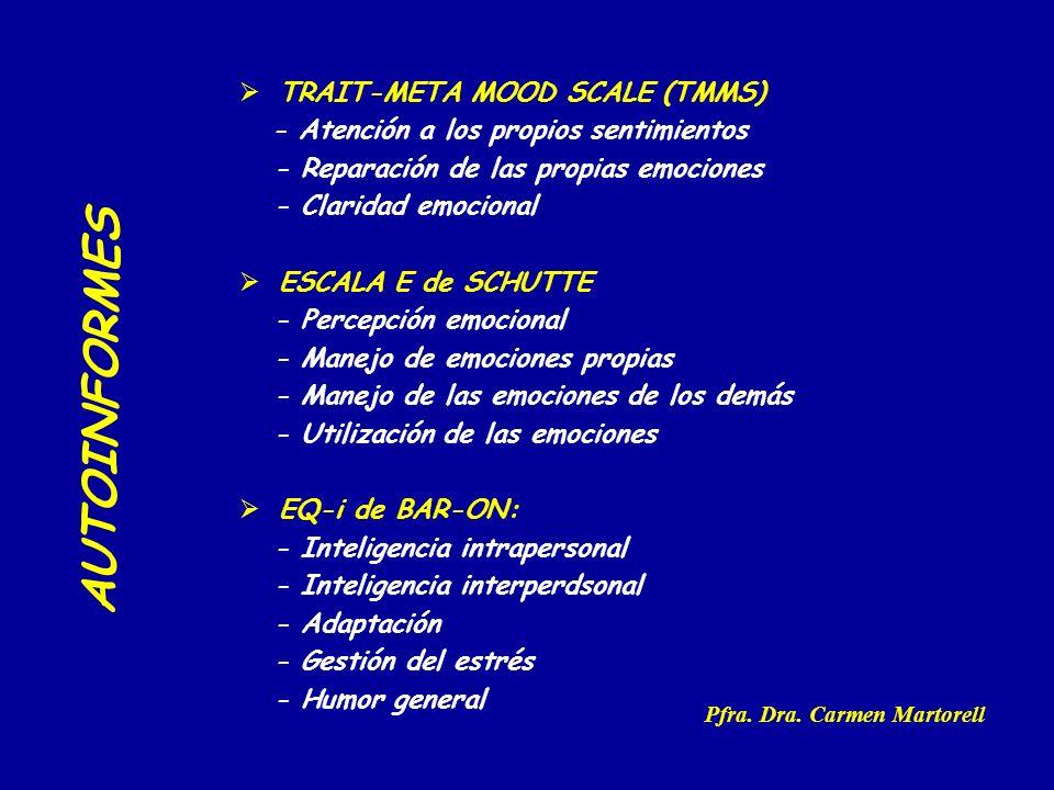 AUTOINFORMES TRAIT-META MOOD SCALE (TMMS)