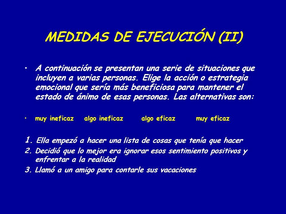 MEDIDAS DE EJECUCIÓN (II)