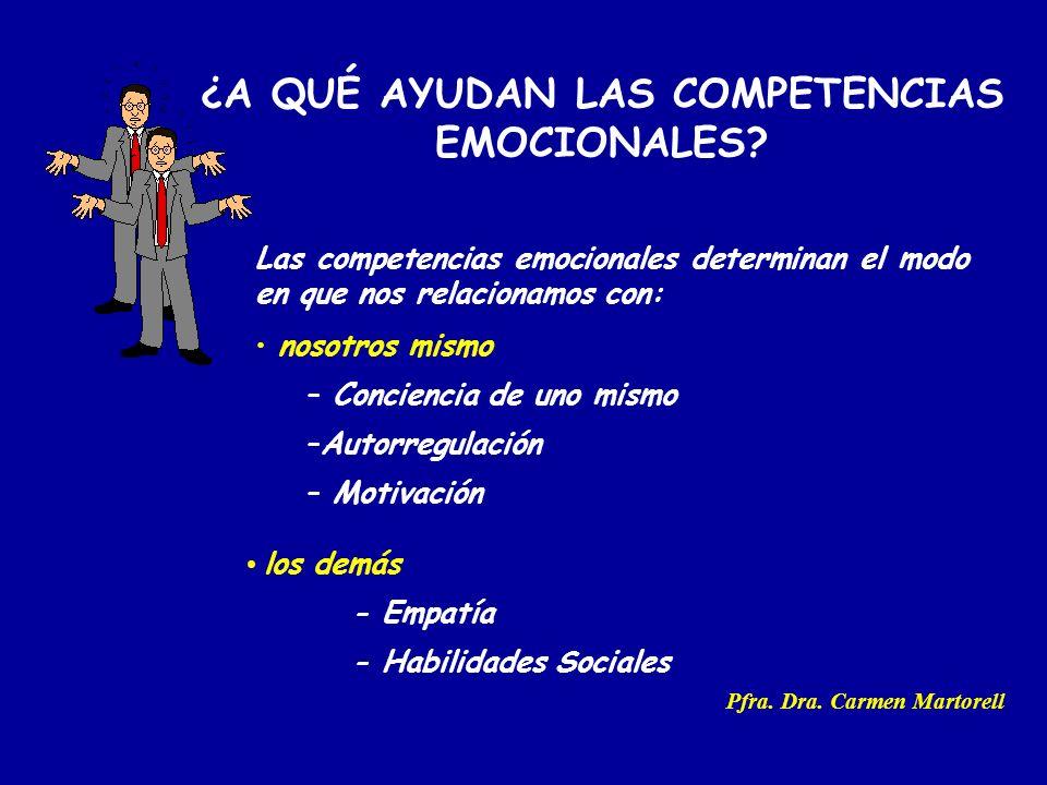 ¿A QUÉ AYUDAN LAS COMPETENCIAS EMOCIONALES