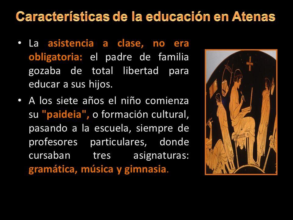 Características de la educación en Atenas