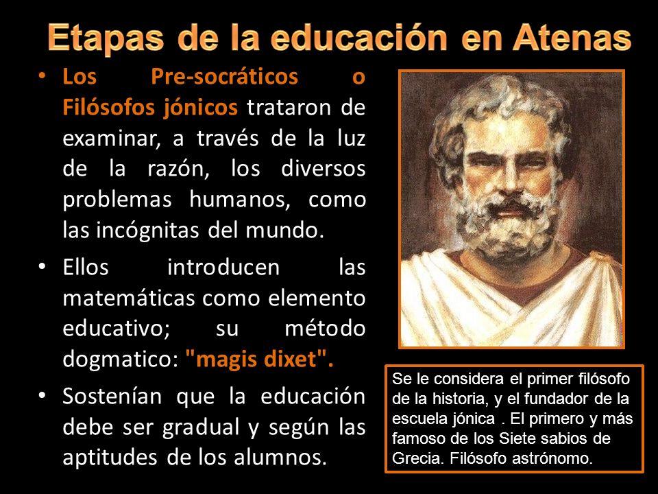 Etapas de la educación en Atenas