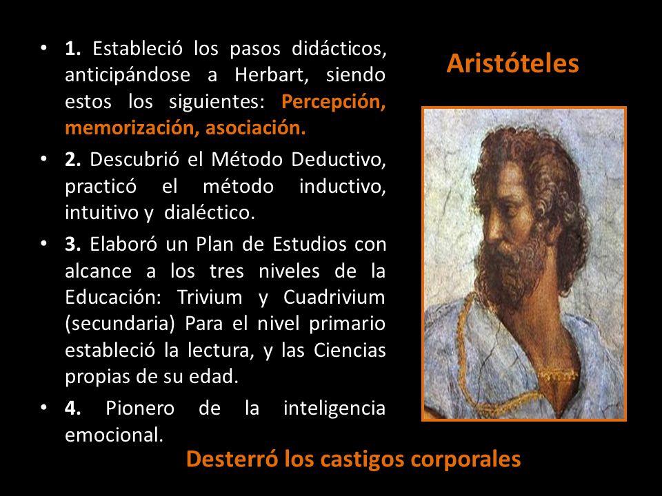 Aristóteles Desterró los castigos corporales