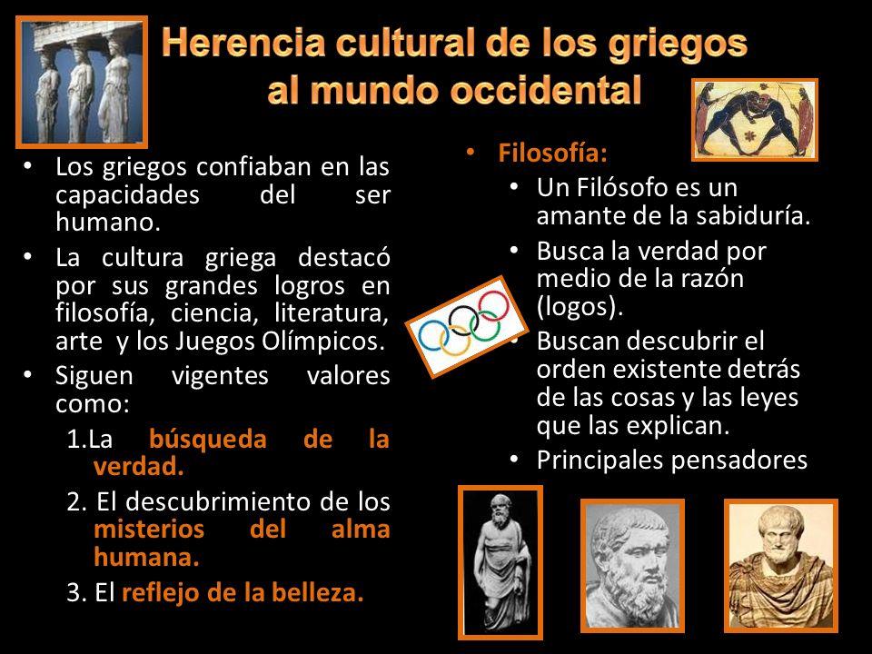 Herencia cultural de los griegos
